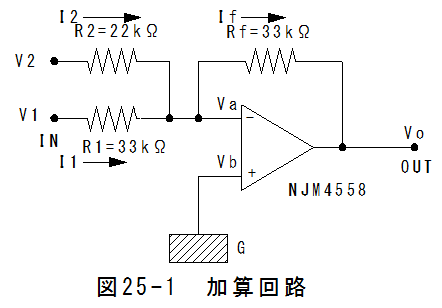オペアンプ 加算 回路